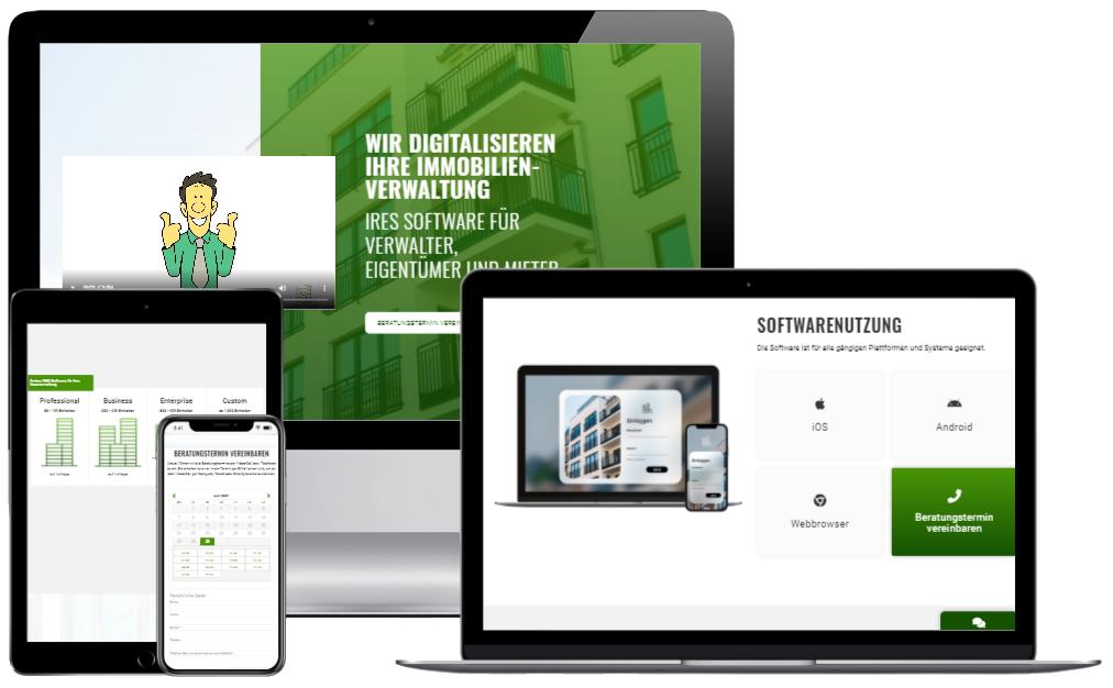 Webdesign IRES Softwareq